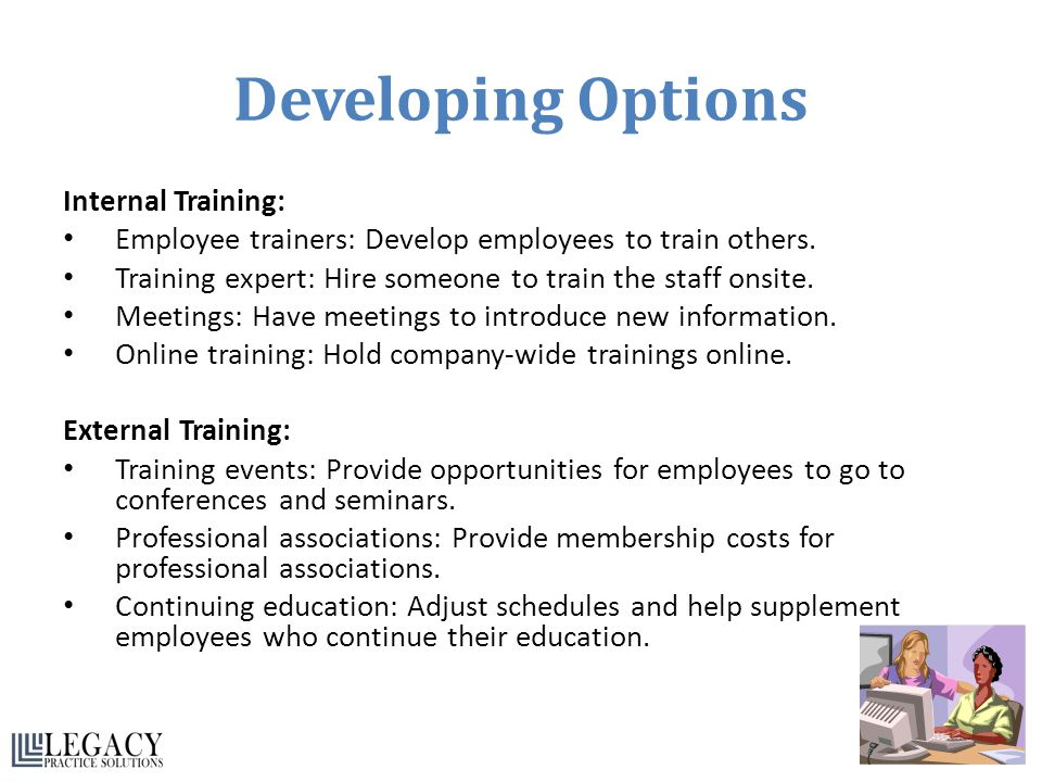 Developing Options Internal Training:
