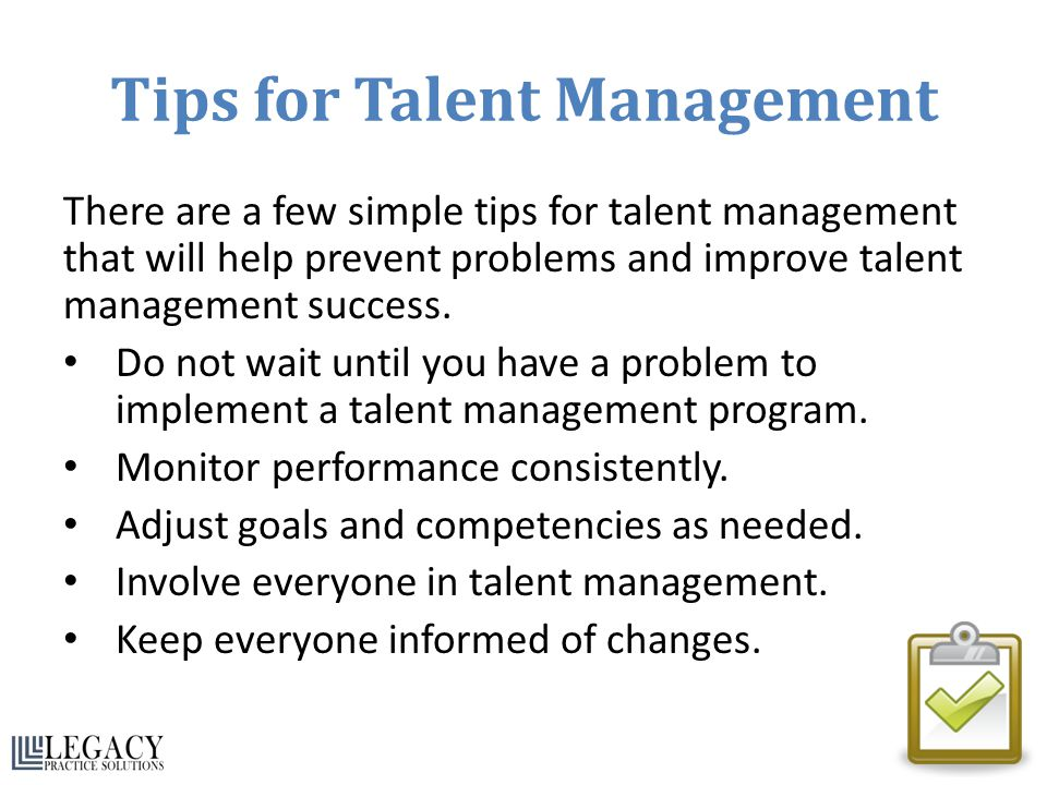 Tips for Talent Management