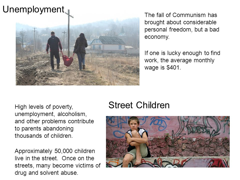 Unemployment Street Children
