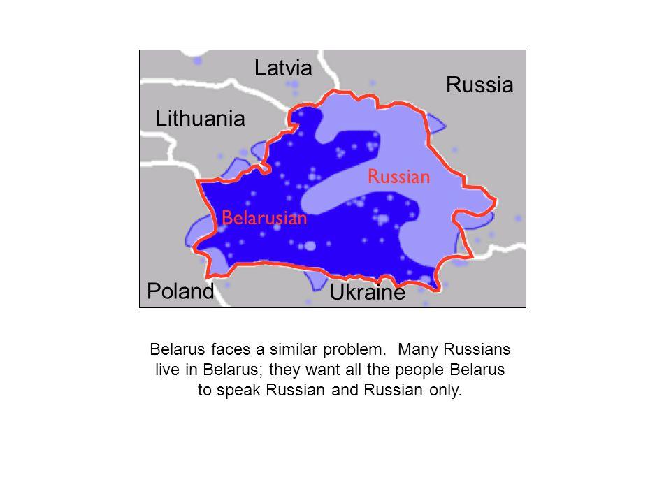 Latvia Russia Lithuania Poland Ukraine