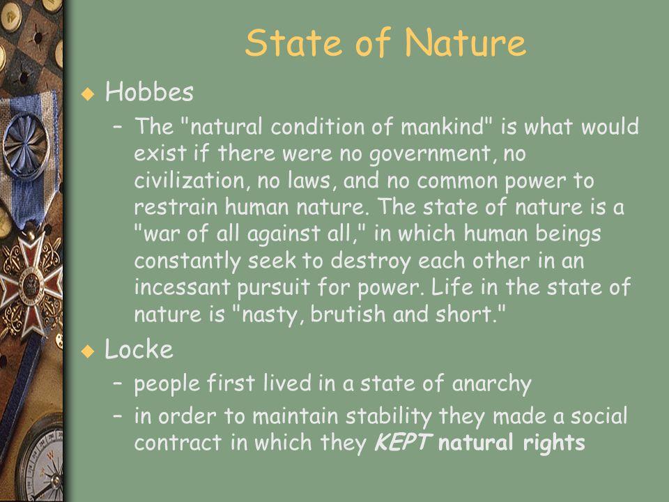 State of Nature Hobbes Locke