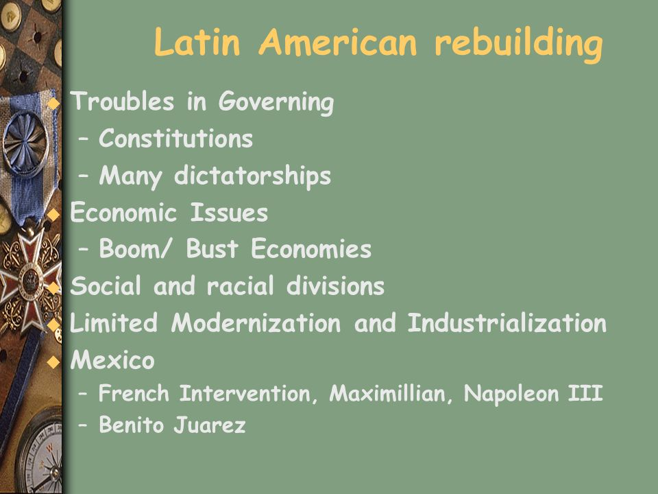 Latin American rebuilding