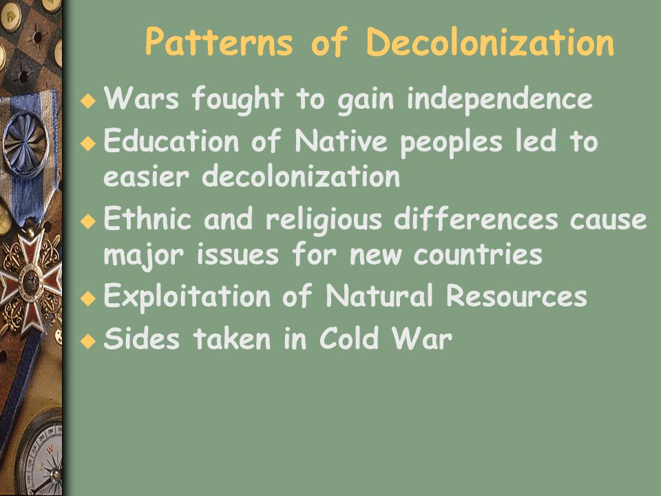 Patterns of Decolonization