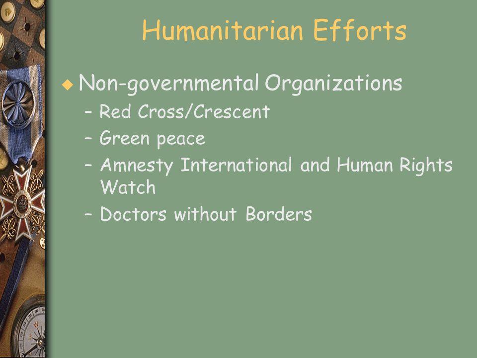 Humanitarian Efforts Non-governmental Organizations Red Cross/Crescent
