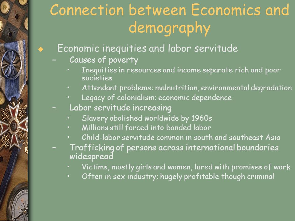 Connection between Economics and demography