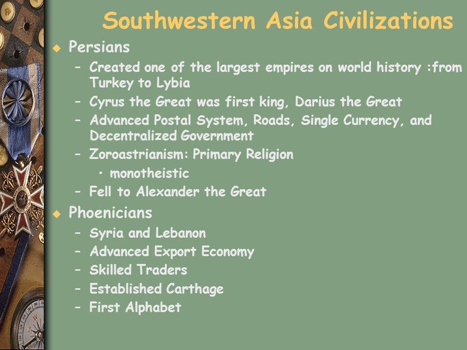Southwestern Asia Civilizations
