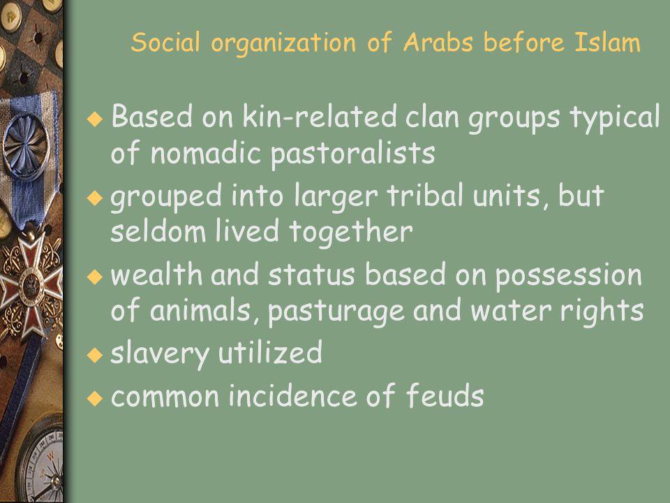 Social organization of Arabs before Islam