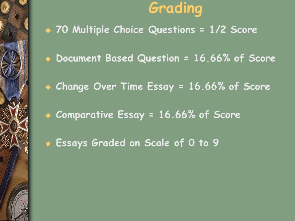 Grading 70 Multiple Choice Questions = 1/2 Score