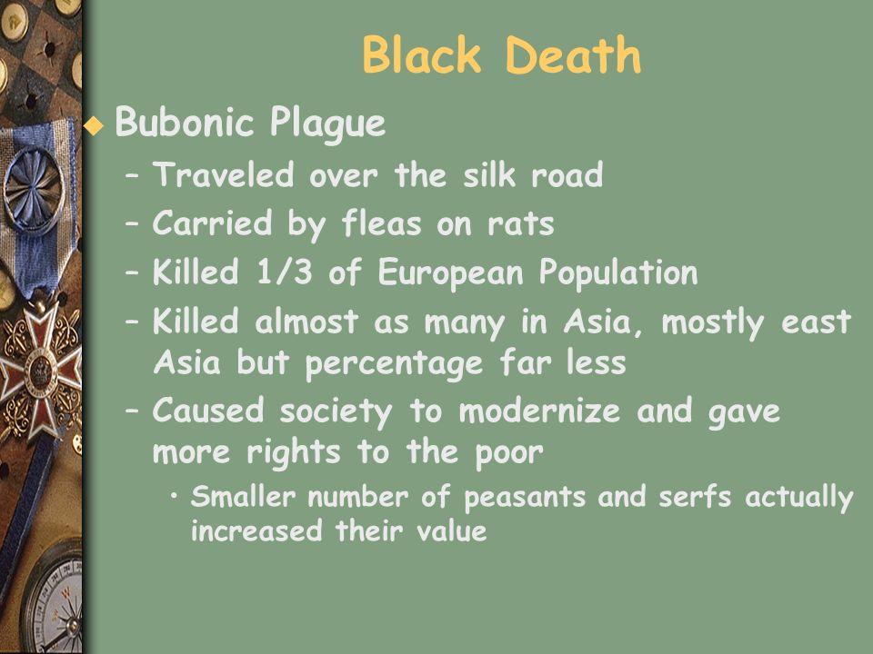 Black Death Bubonic Plague Traveled over the silk road
