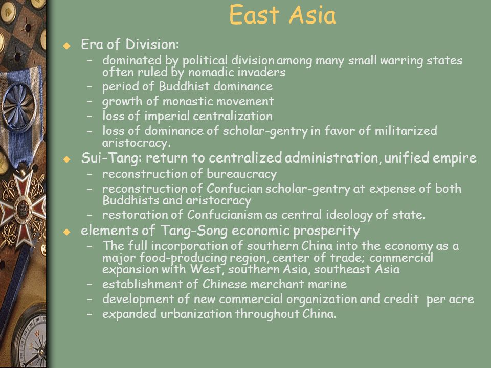 East Asia Era of Division: