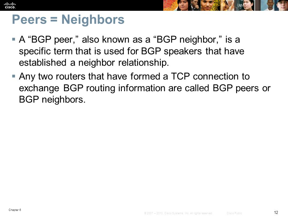 Peers = Neighbors