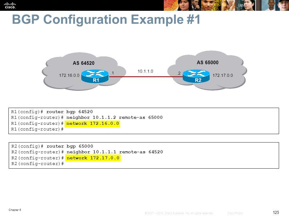 BGP Configuration Example #1