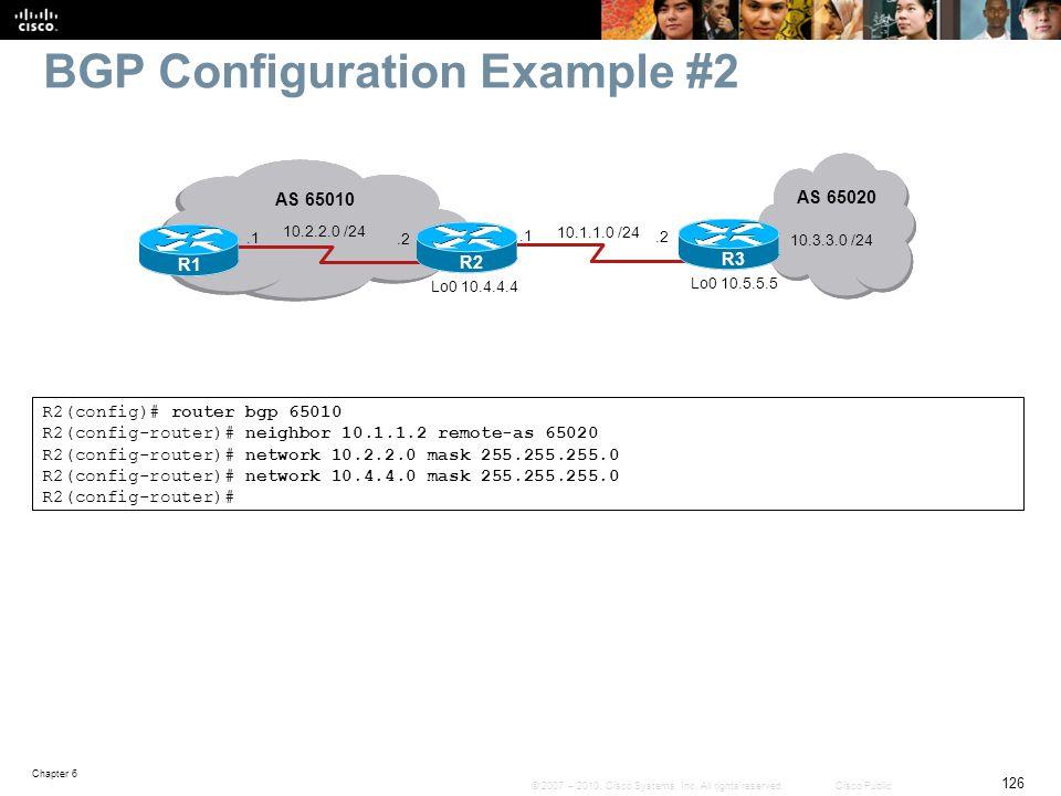 BGP Configuration Example #2