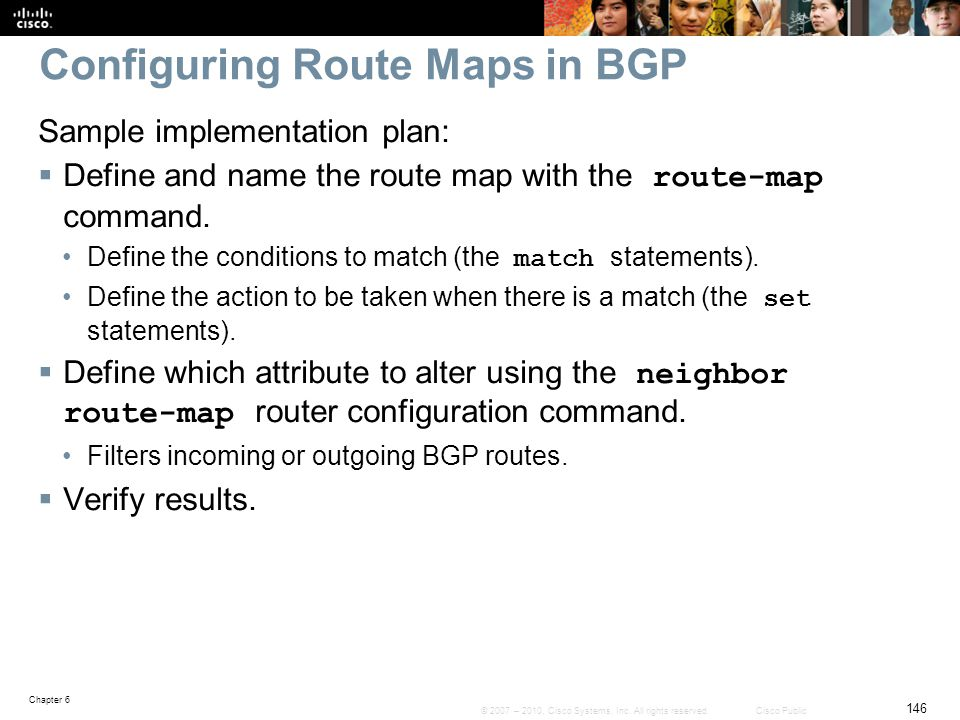 Configuring Route Maps in BGP