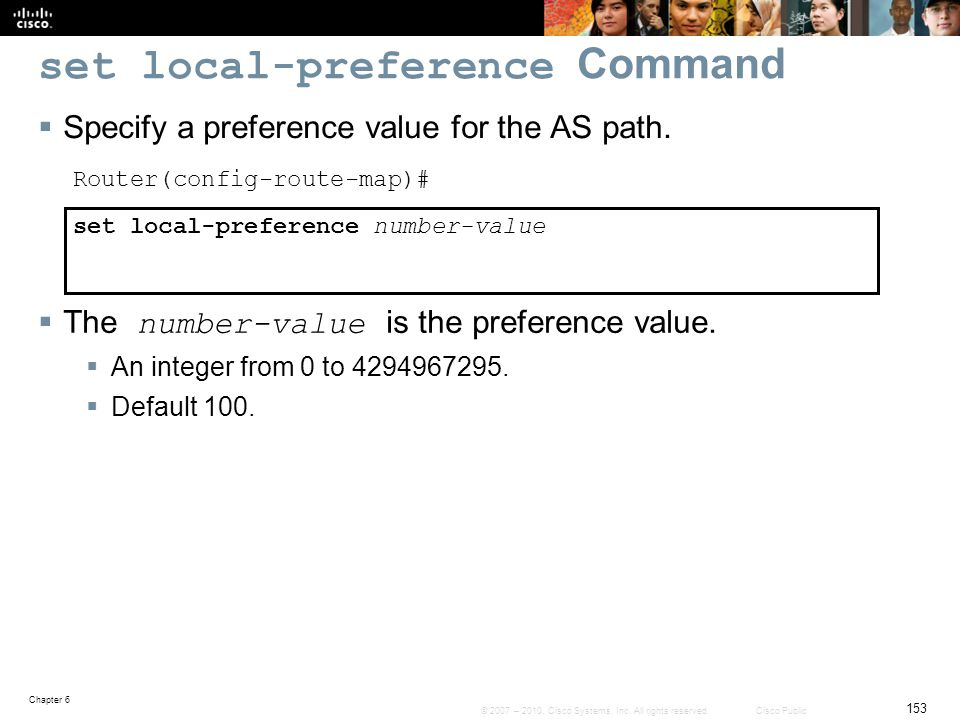 set local-preference Command