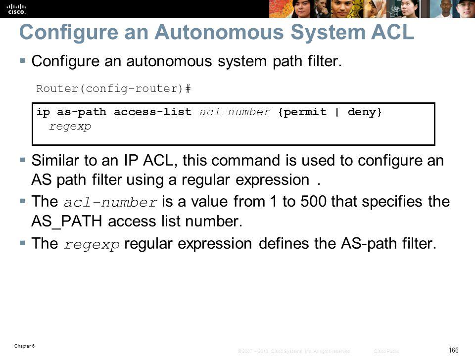 Configure an Autonomous System ACL