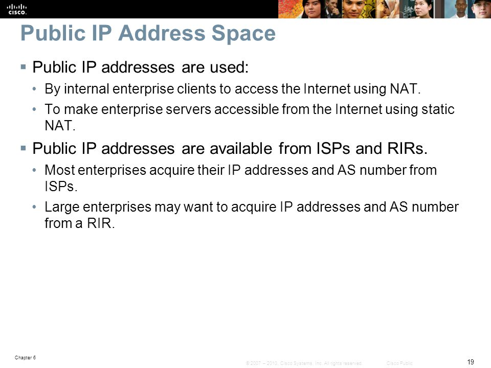 Public IP Address Space