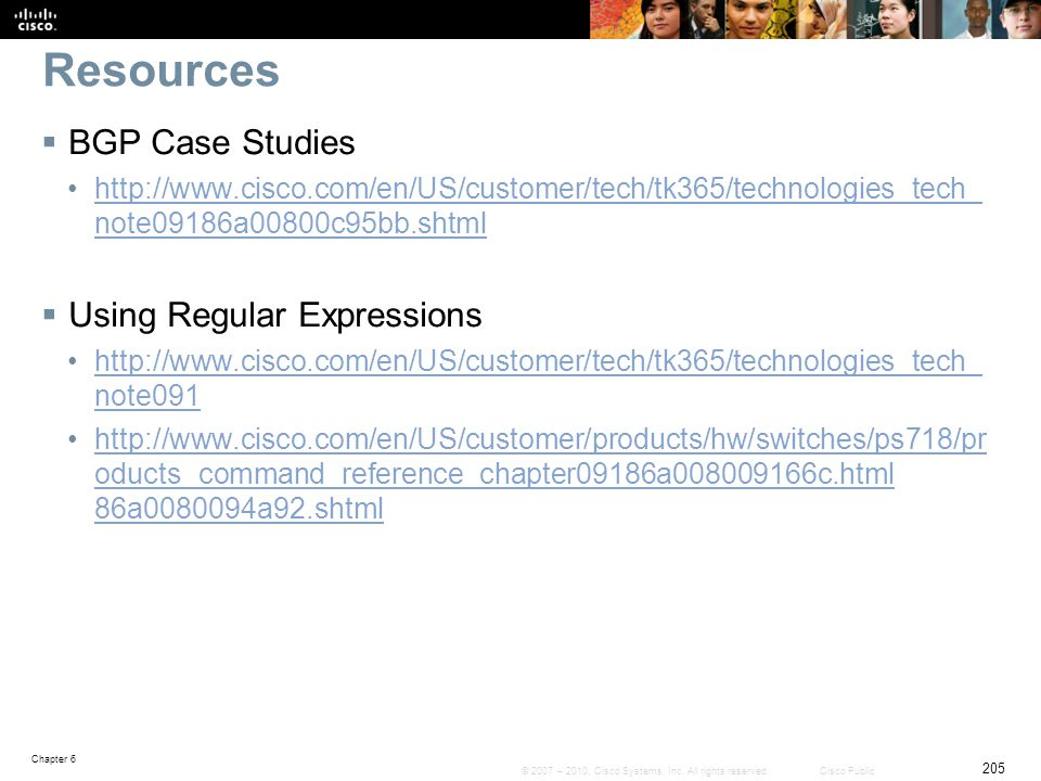 Resources BGP Case Studies Using Regular Expressions