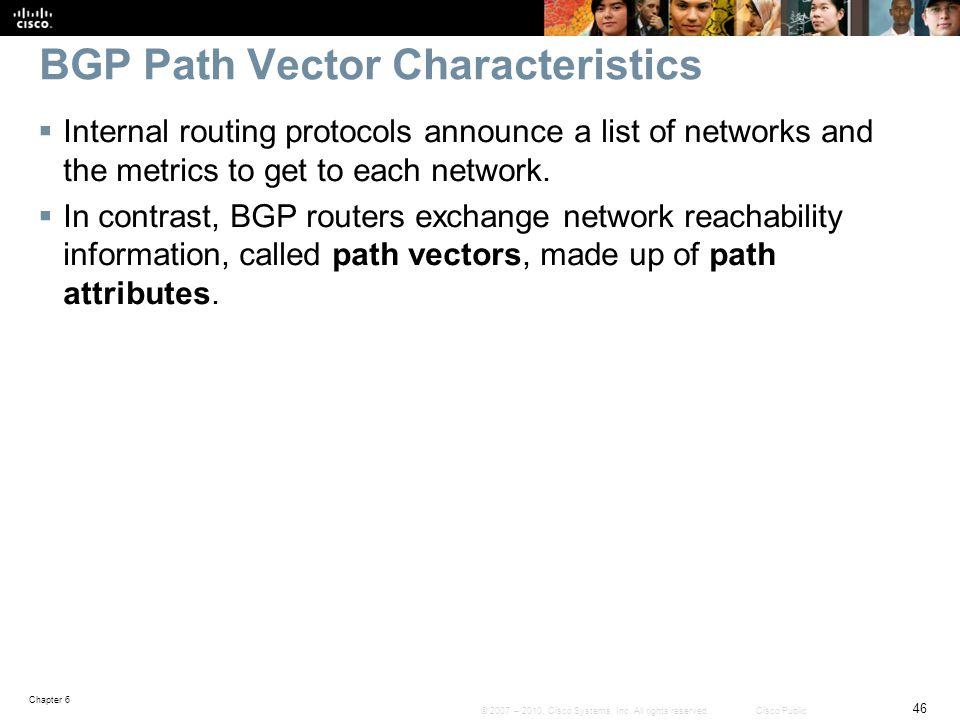 BGP Path Vector Characteristics