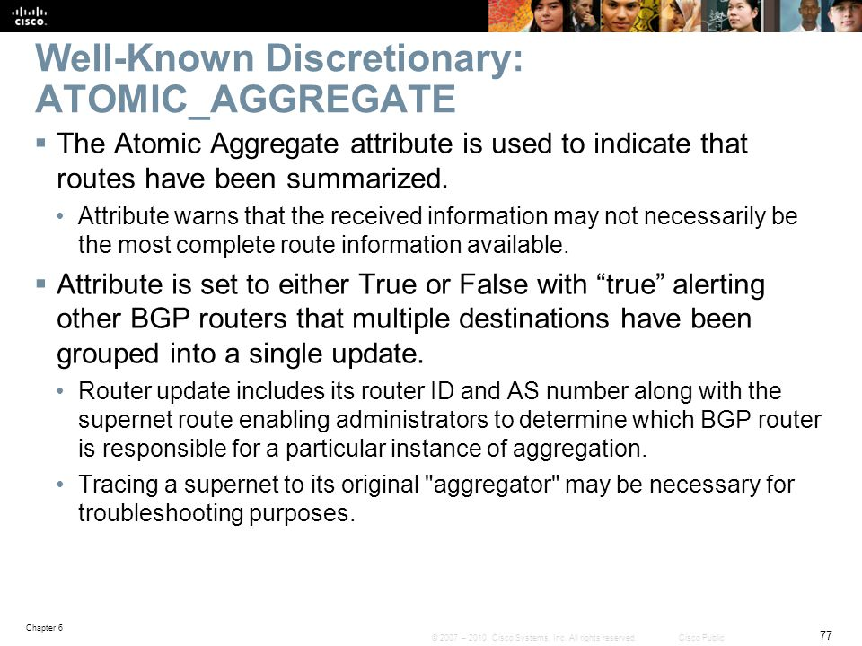 Well-Known Discretionary: ATOMIC_AGGREGATE