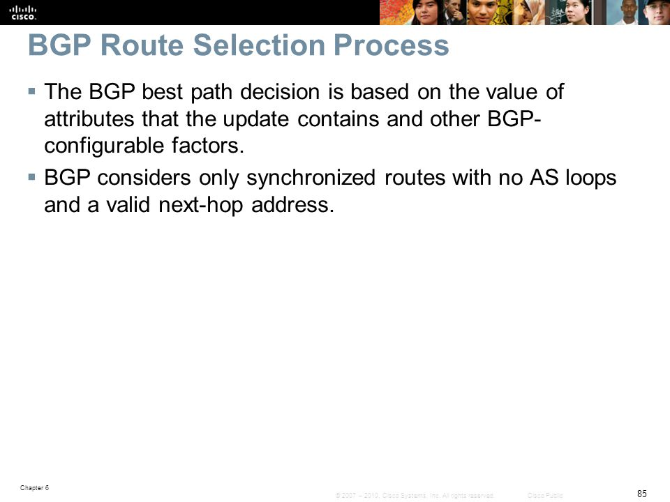 BGP Route Selection Process