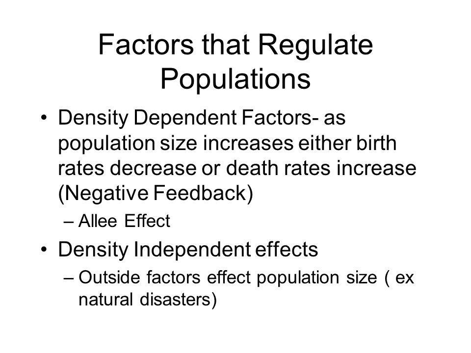 Factors that Regulate Populations