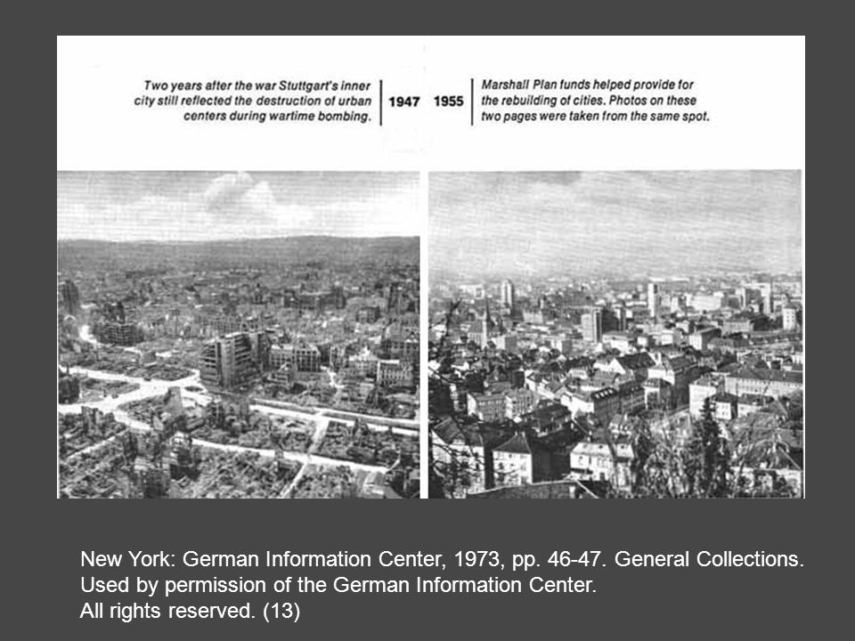 Stuttgart--Before and After the Marshall Plan
