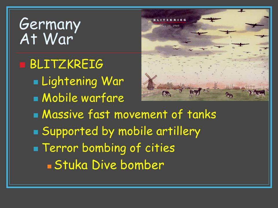 Germany At War Stuka Dive bomber BLITZKREIG Lightening War