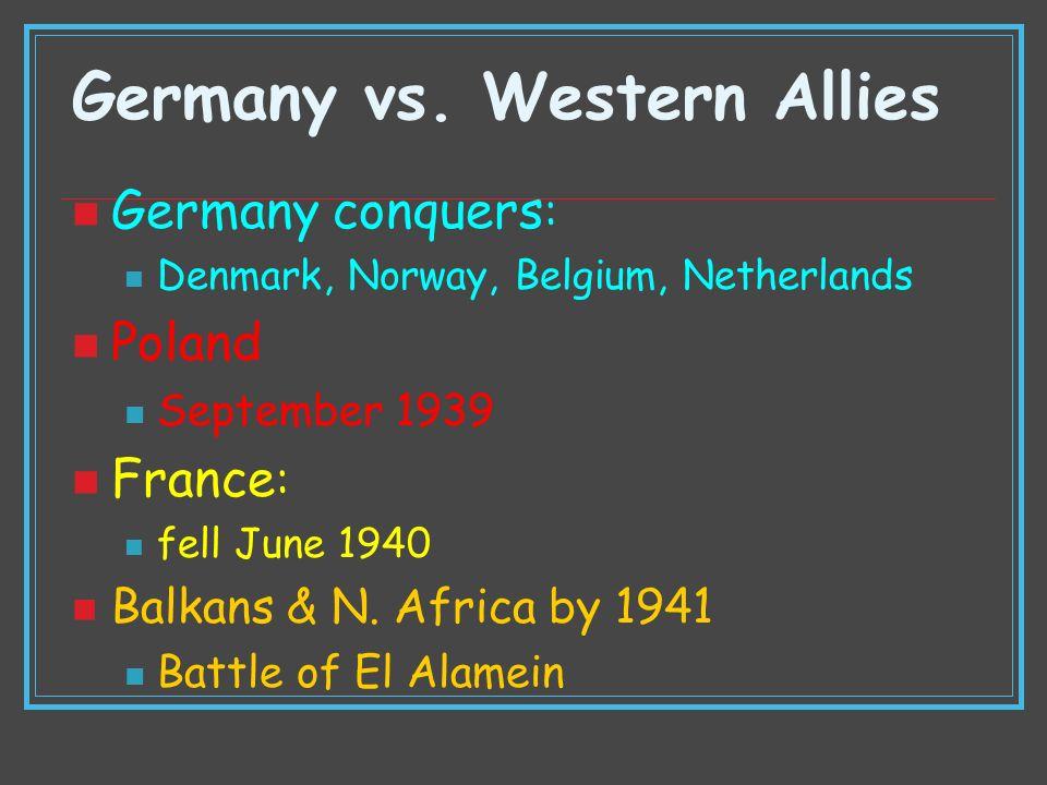 Germany vs. Western Allies