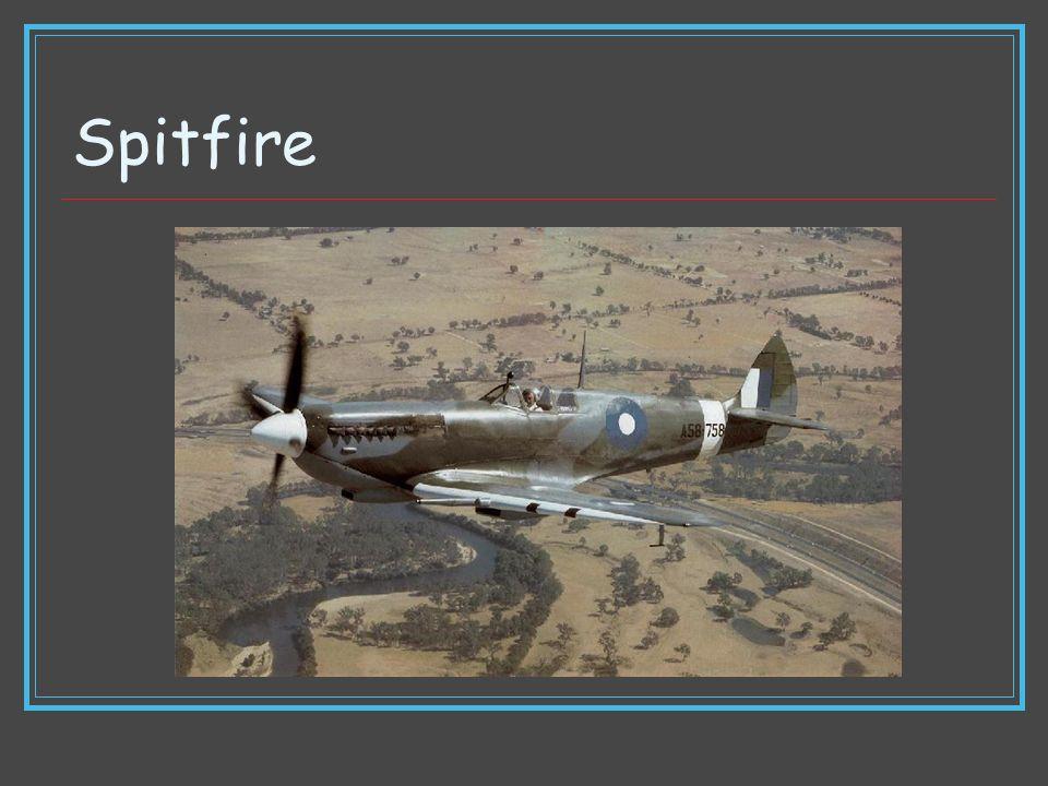 Spitfire Type Fighter Manufacturer Supermarine