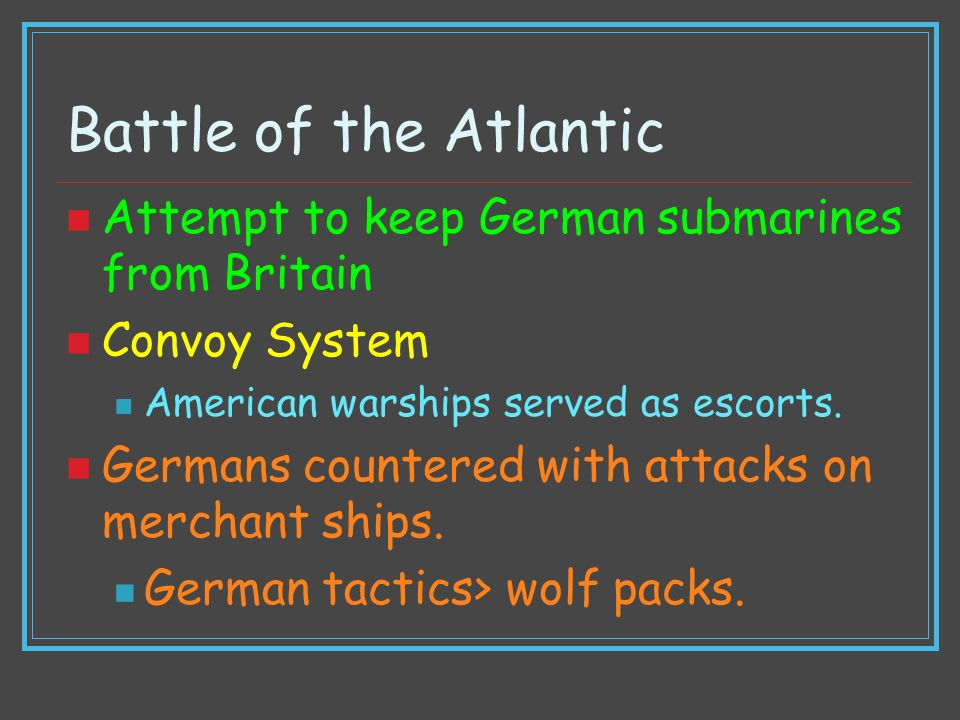 Battle of the Atlantic Attempt to keep German submarines from Britain