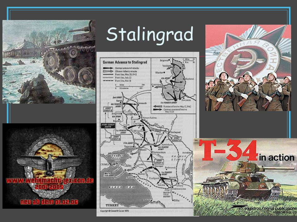 Stalingrad Compare the circumstances of Soviet solders in this battle to that of the Americans at Omaha beach.