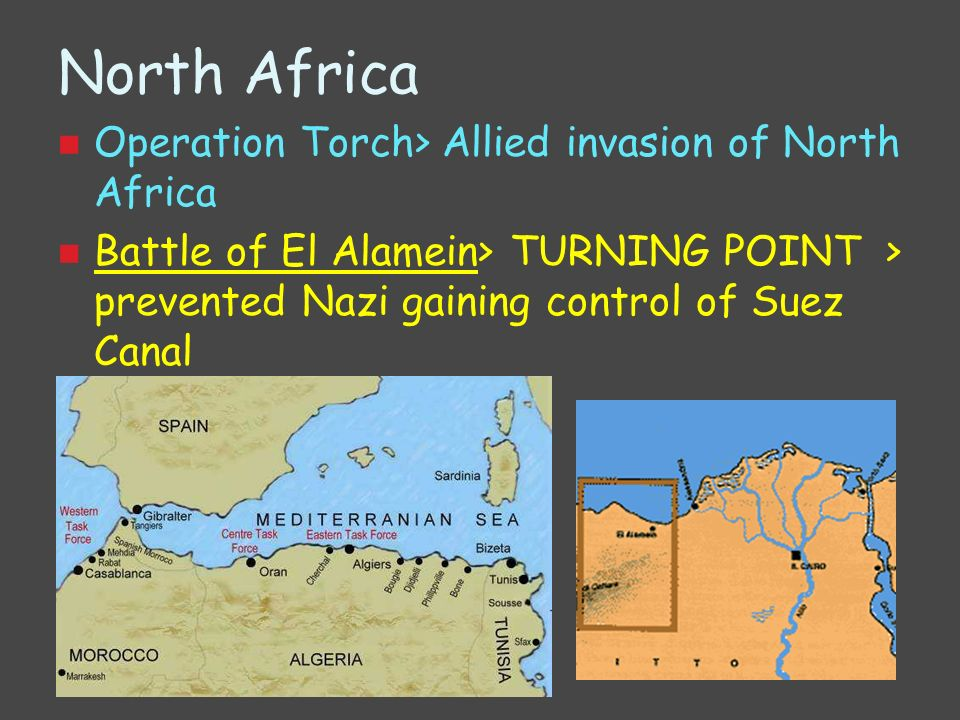 North Africa Operation Torch> Allied invasion of North Africa