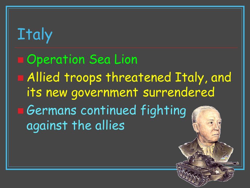 Italy Operation Sea Lion