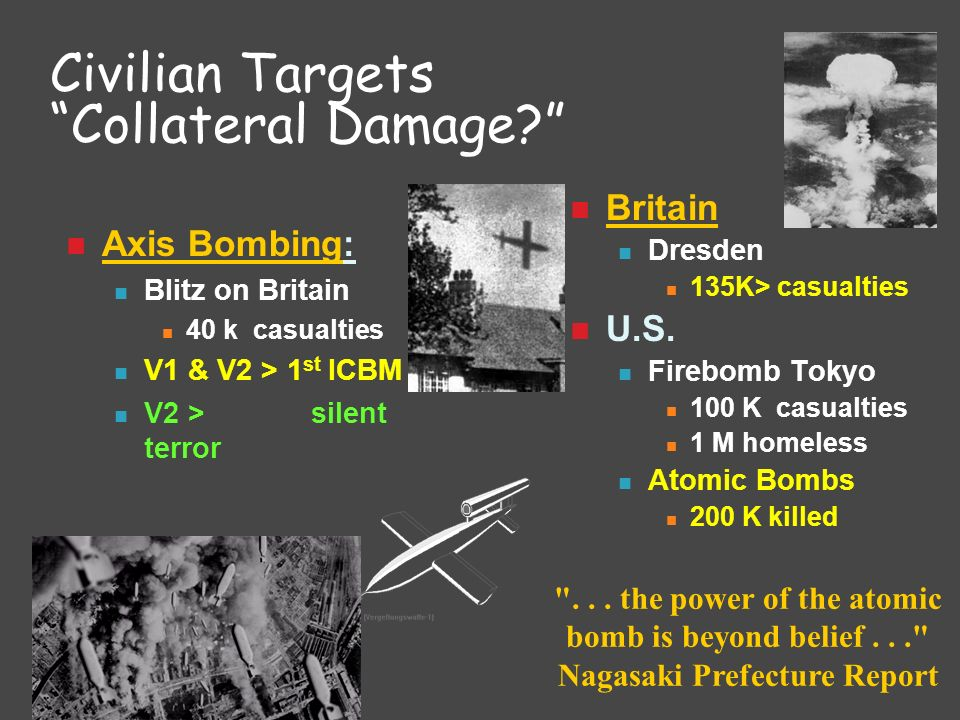 Civilian Targets Collateral Damage
