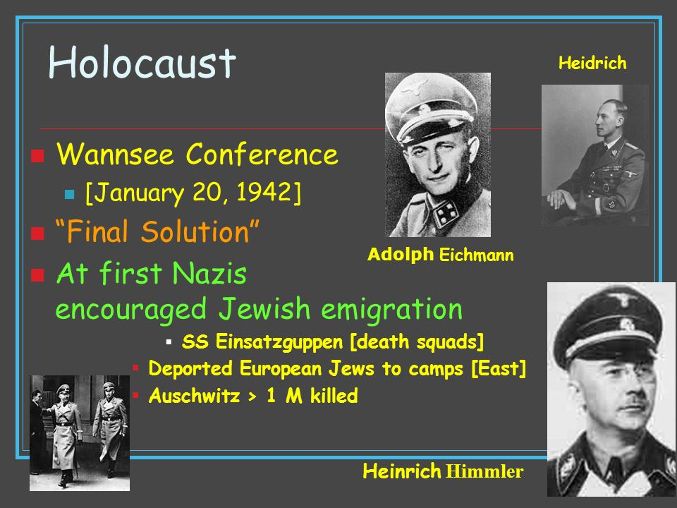 Holocaust Wannsee Conference Final Solution