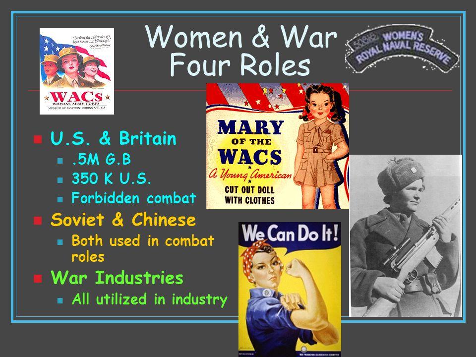 Women & War Four Roles U.S. & Britain Soviet & Chinese War Industries
