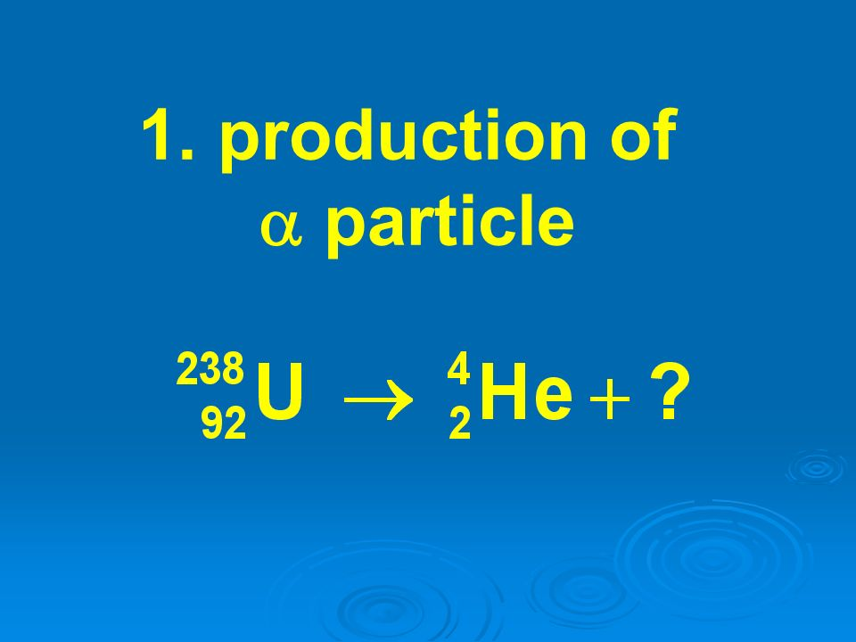 1. production of a particle