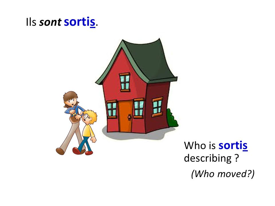 Ils sont sortis. Who is sortis describing (Who moved )