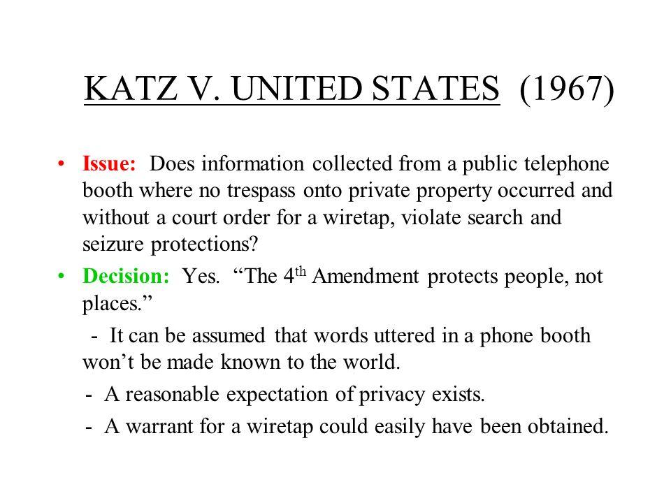 KATZ V. UNITED STATES (1967)
