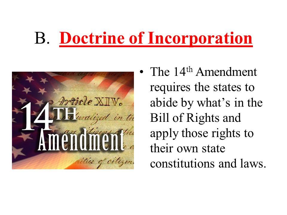 B. Doctrine of Incorporation