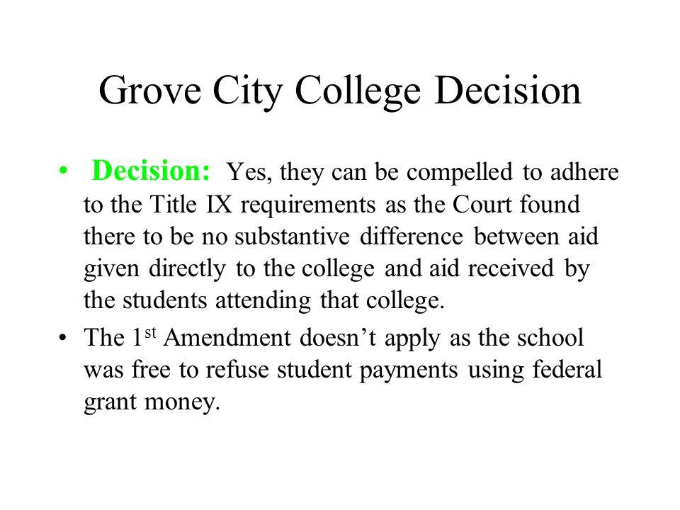 Grove City College Decision