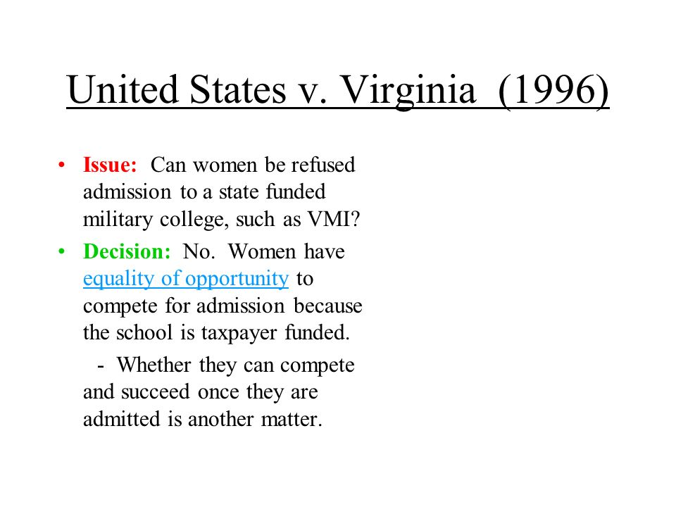 United States v. Virginia (1996)