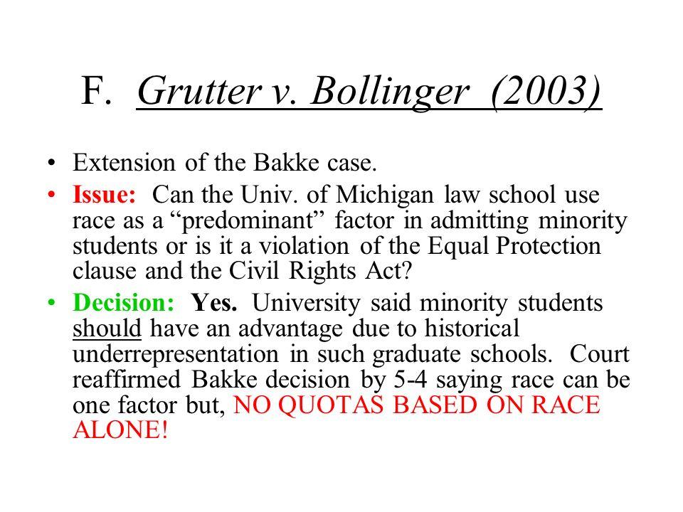 F. Grutter v. Bollinger (2003)