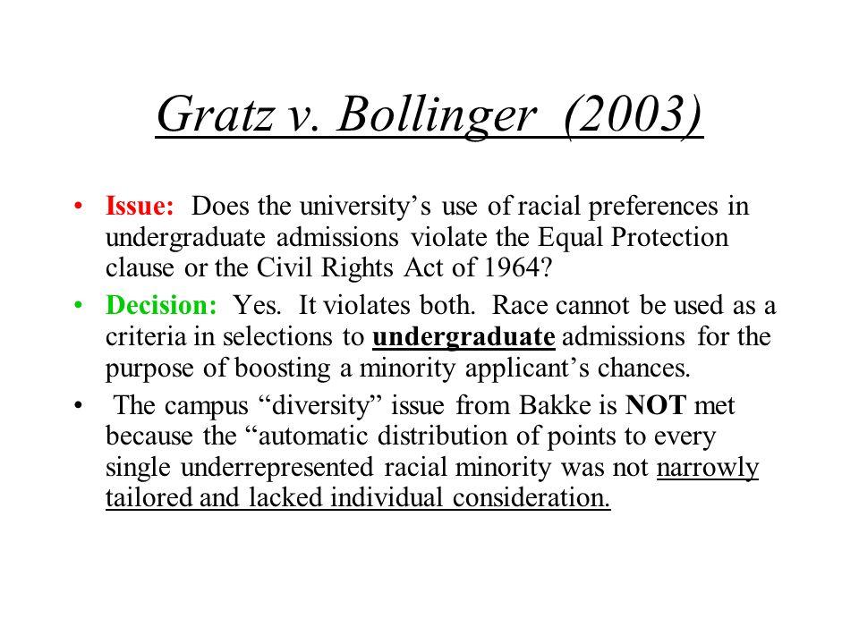 Gratz v. Bollinger (2003)