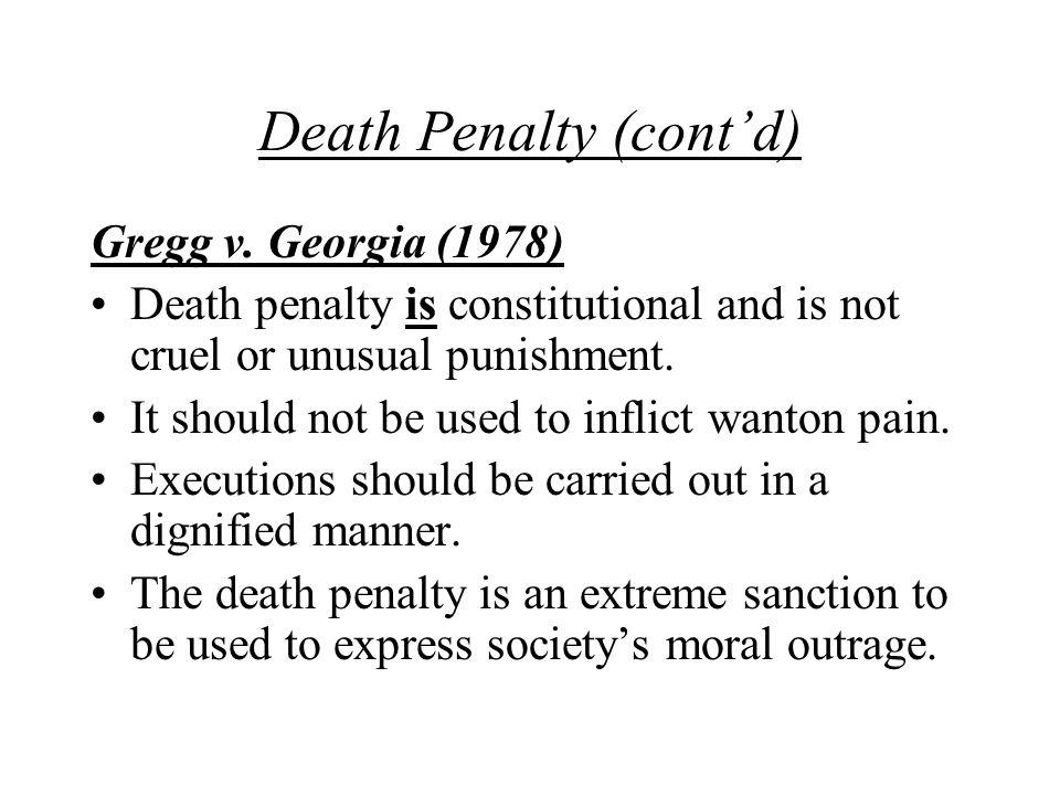 Death Penalty (cont'd)