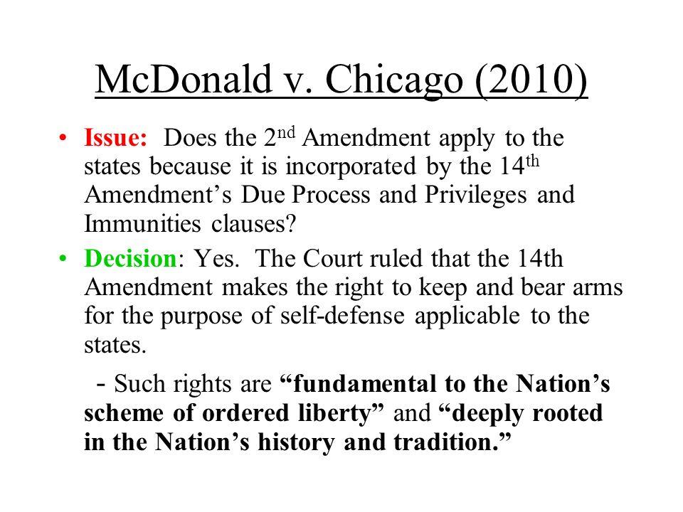 McDonald v. Chicago (2010)