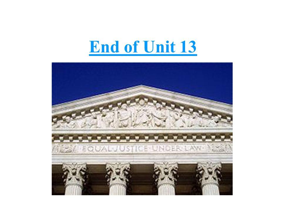 End of Unit 13