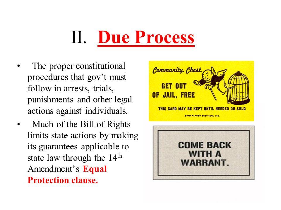 II. Due Process