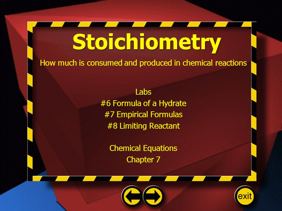 How much is consumed and produced in chemical reactions